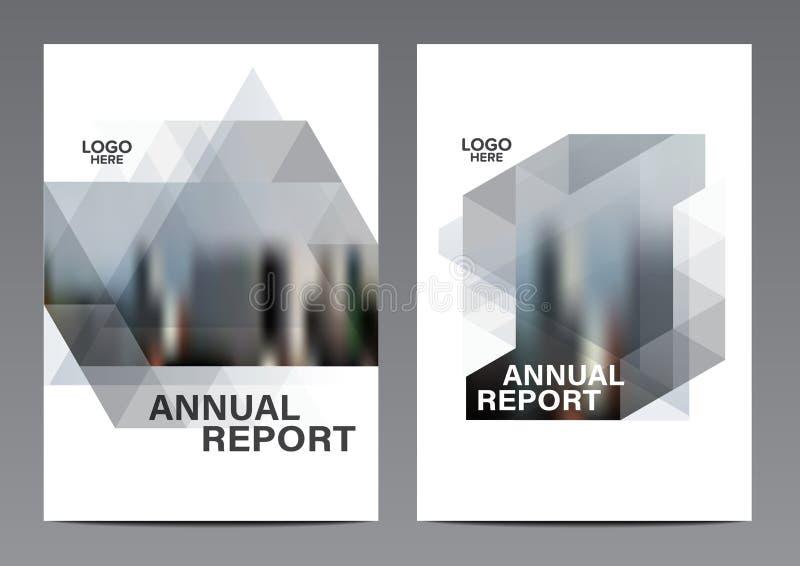 Modello in bianco e nero di progettazione della disposizione dell'opuscolo Fondo moderno di presentazione della copertura dell'op illustrazione vettoriale