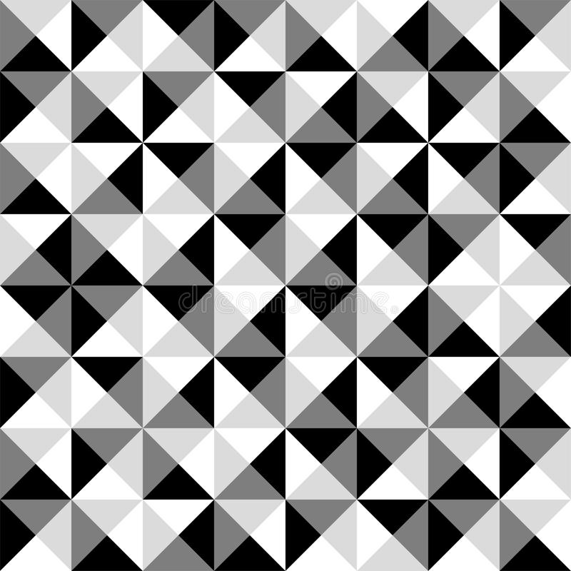 Modello in bianco e nero senza cuciture delle mattonelle della piramide - conti i quadrati illustrazione vettoriale