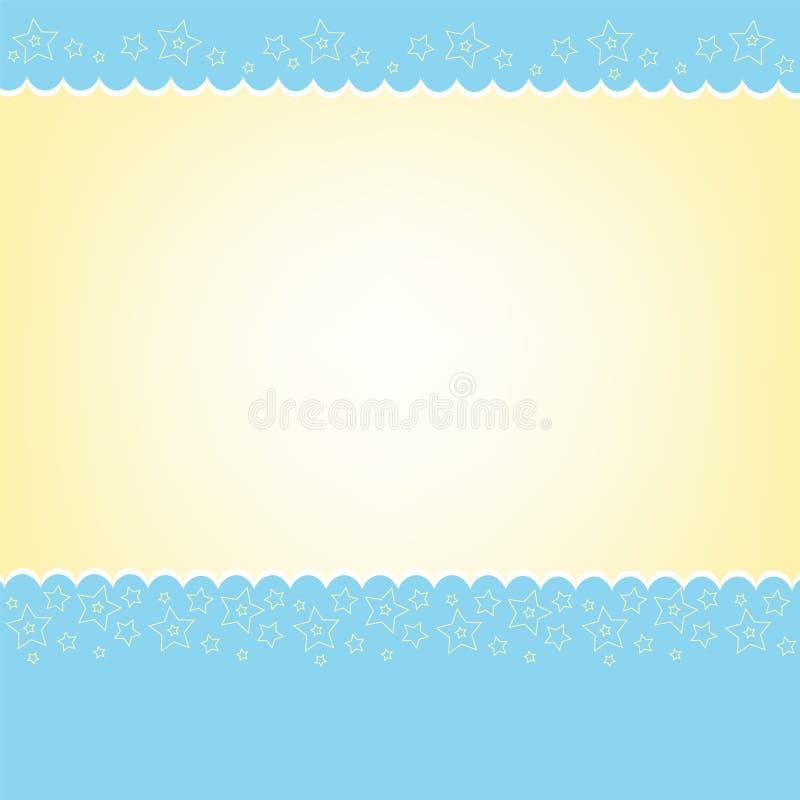 Modello in bianco per la cartolina d'auguri illustrazione vettoriale