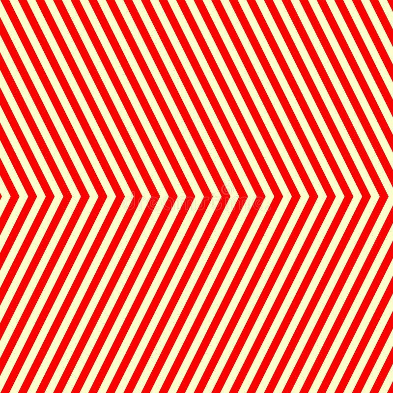 Modello bianco rosso a strisce diagonale Linee rette fondo di ripetizione astratta di struttura royalty illustrazione gratis