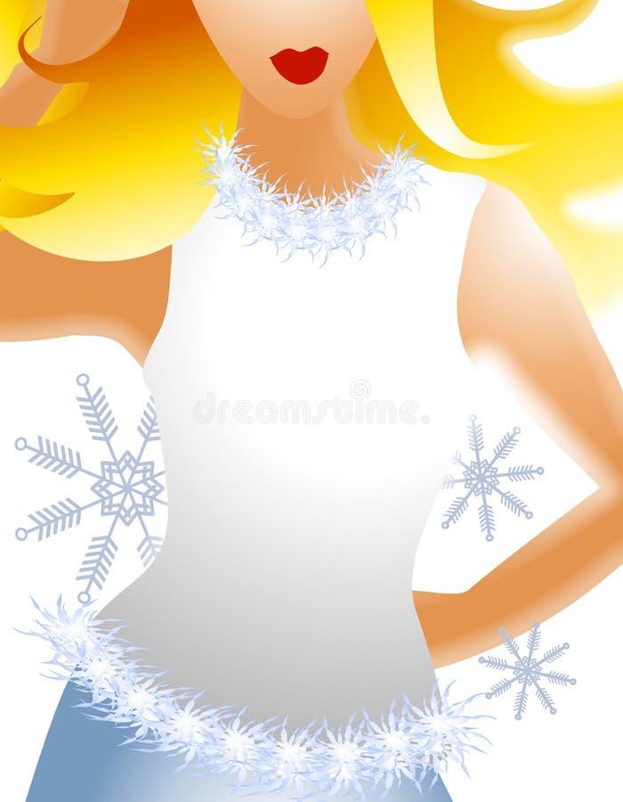 Modello biondo 3 di modo di inverno illustrazione di stock