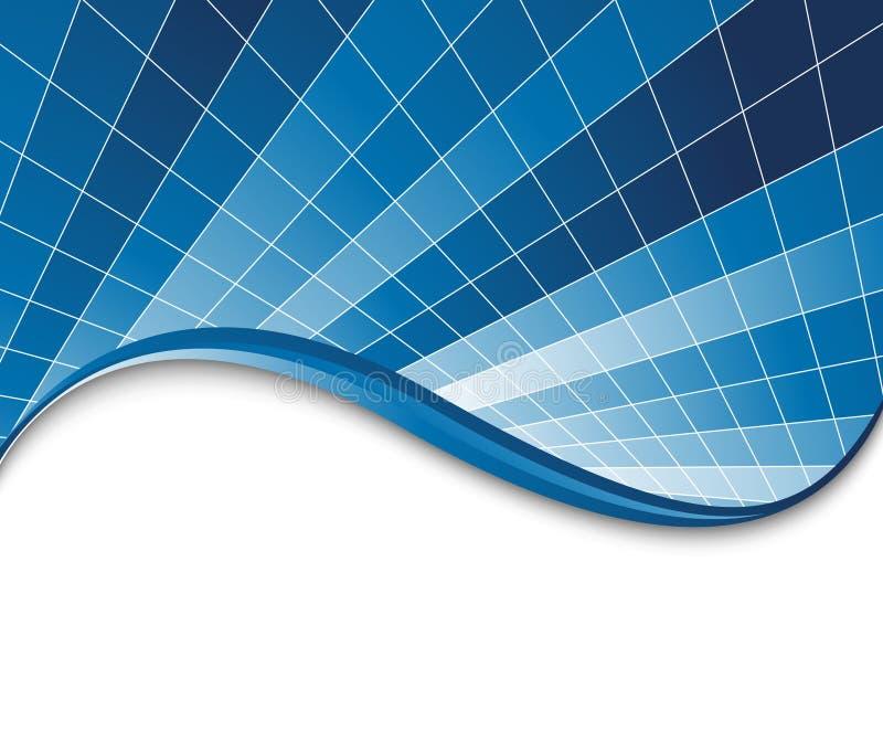 Modello blu alta tecnologia della scheda royalty illustrazione gratis