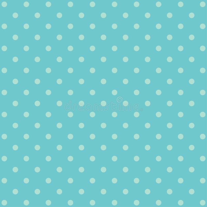 Modello blu del fondo del pois illustrazione di stock