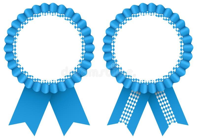 Modello blu del nastro di Oktoberfest di due distintivi del premio royalty illustrazione gratis