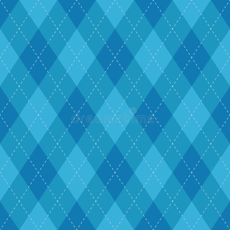 Modello blu del plaid senza cuciture del argyle Controllo del diamante illustrazione di stock