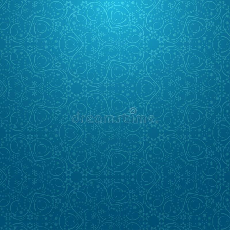 Modello blu della neve fotografia stock