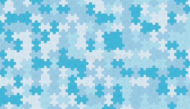 Modello blu dello spazio in bianco del puzzle, fondo di struttura del modello illustrazione di stock