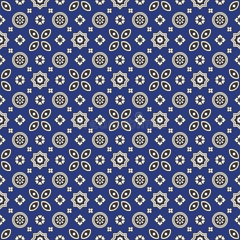 Modello blu di Ajrak royalty illustrazione gratis