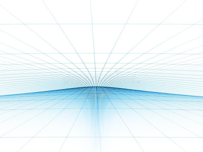 Modello blu di griglia royalty illustrazione gratis