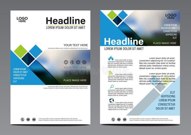 Modello blu di progettazione dell'aletta di filatoio del rapporto annuale dell'opuscolo royalty illustrazione gratis