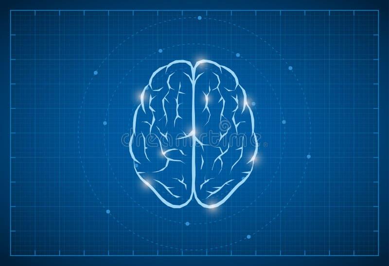 Modello Brain Symbol illustrazione vettoriale