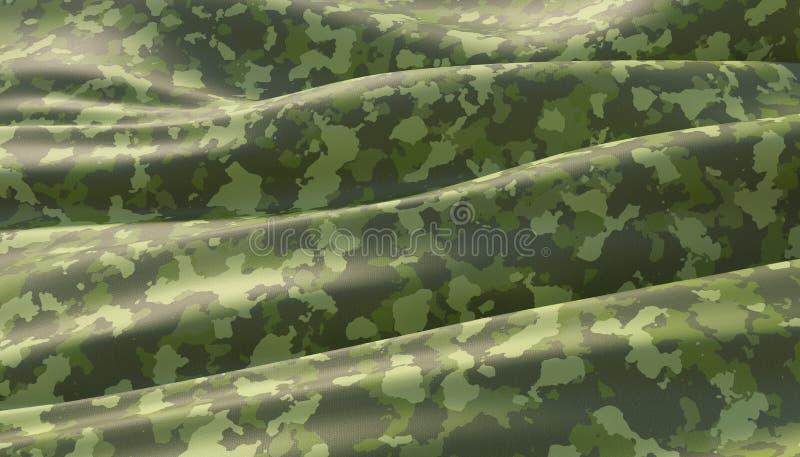 Modello cachi di guerra del cammuffamento militare del fondo 3d rendono illustrazione vettoriale