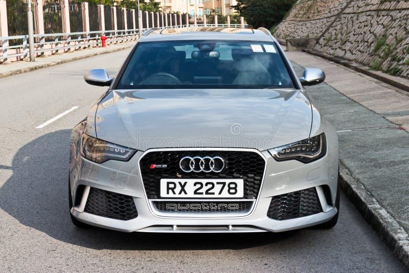 Modello caldo di Avant 2013 di sport di Audi RS6 fotografia stock libera da diritti
