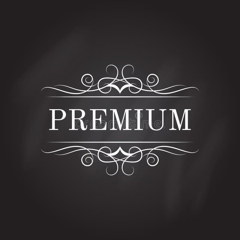 Modello calligrafico d'annata di logo Progettazione di identità per il negozio, il ristorante, il salone di bellezza, il boutique illustrazione di stock