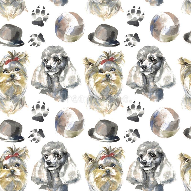 Modello - cane del compagno royalty illustrazione gratis