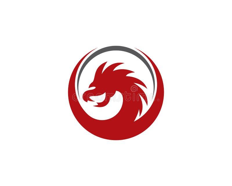 Modello capo di logo del drago illustrazione di stock
