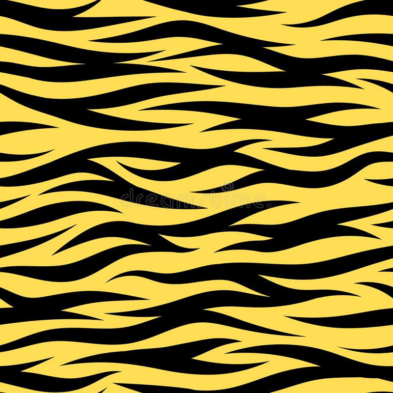 Modello casuale di Tiger Stripes Seamless Wallpaper Vector illustrazione vettoriale