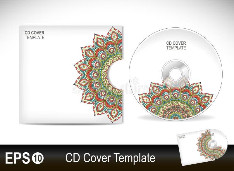 Modello CD di disegno del coperchio Illustrazione di vettore illustrazione vettoriale