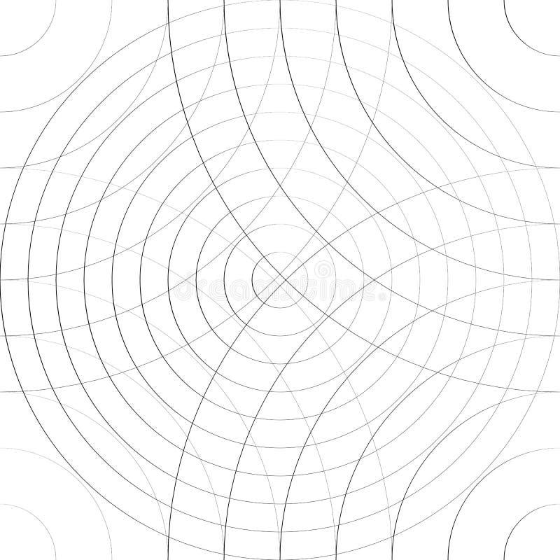 Modello cellulare con le linee sottili di cerchi Sottile ripetibile illustrazione di stock