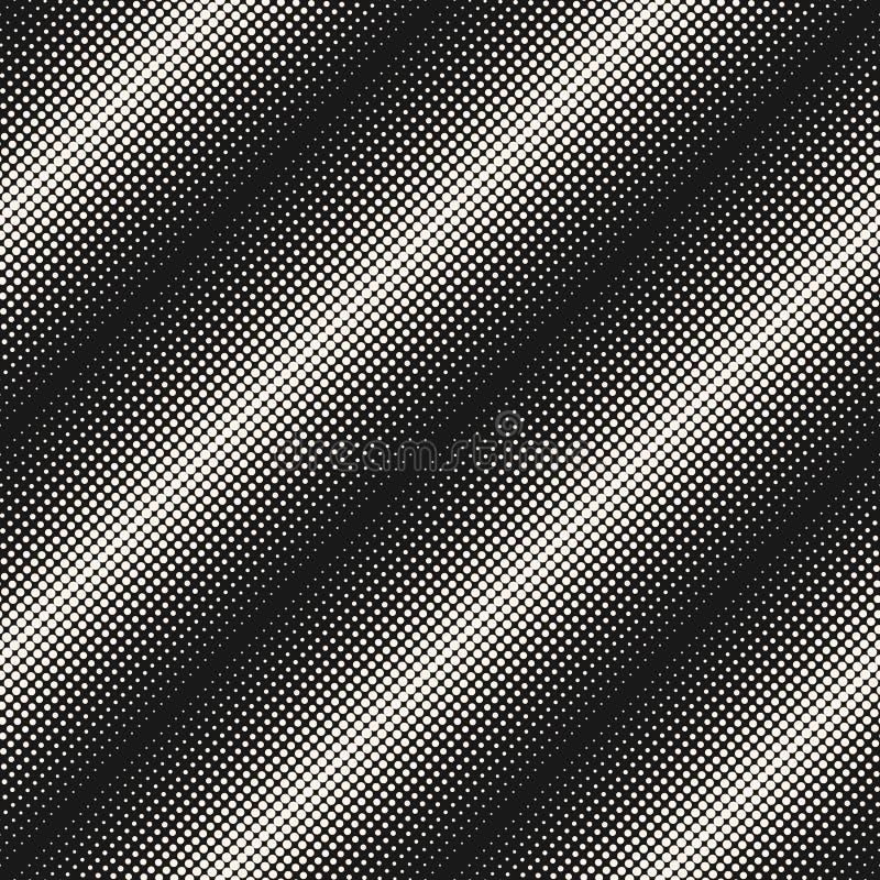 Modello, cerchi & punti senza cuciture di semitono, linee diagonali illustrazione vettoriale