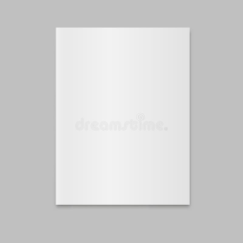 Modello chiuso in bianco di vettore del giornale della rivista illustrazione di stock
