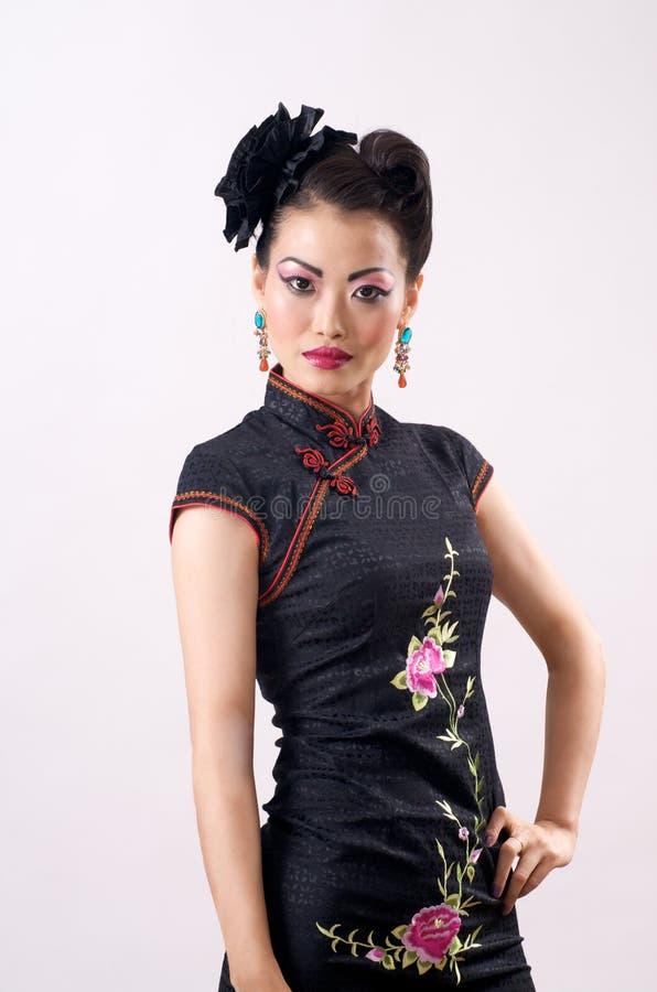 Modello cinese di Qipao fotografia stock