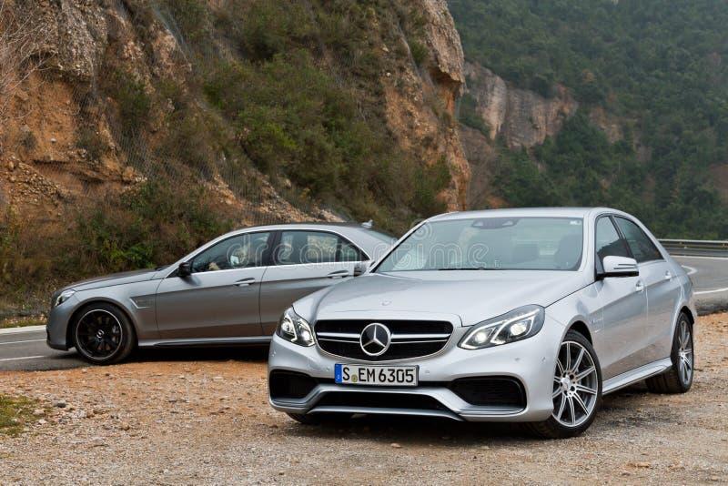 Modello classe e di Mercedes-Benz AMG 2013 fotografia stock