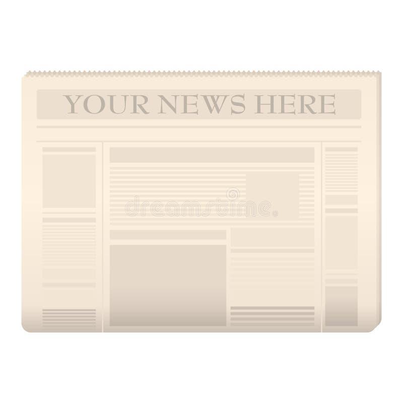 Modello colorato del giornale royalty illustrazione gratis
