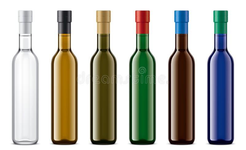 Modello colorato delle bottiglie di vetro royalty illustrazione gratis