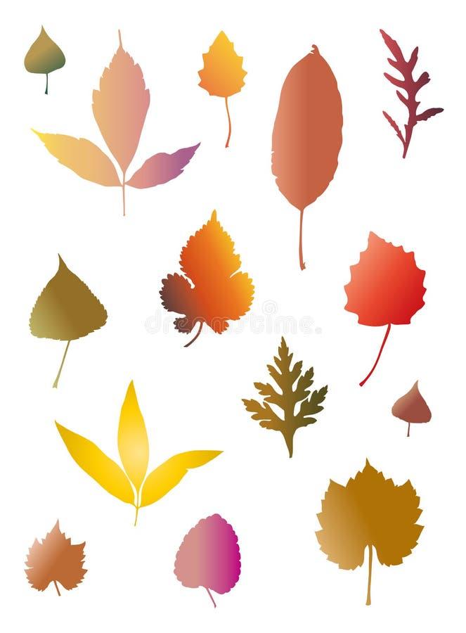 Modello colorato delle foglie di autunno bello royalty illustrazione gratis