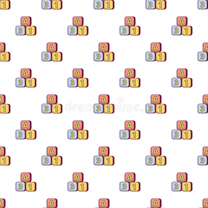 Modello colorato luminoso dei mattoni senza cuciture illustrazione vettoriale