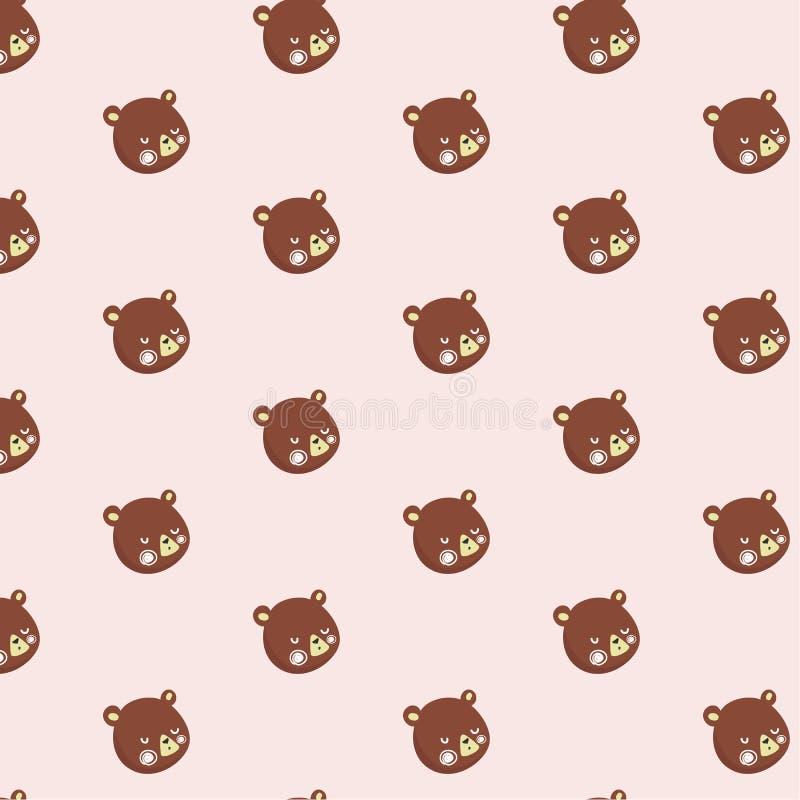 Modello con gli orsacchiotti illustrazione di stock