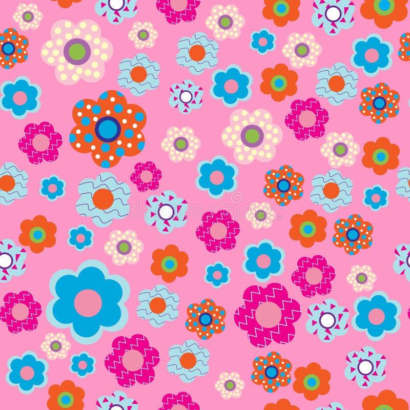 Modello con i fiori del tessuto illustrazione di stock