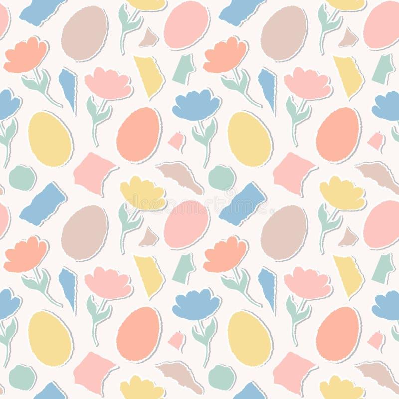 Modello con i tulipani di carta, uova royalty illustrazione gratis