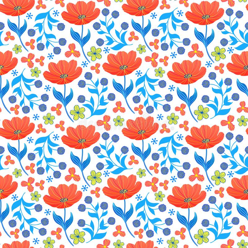 Modello con i tulipani royalty illustrazione gratis