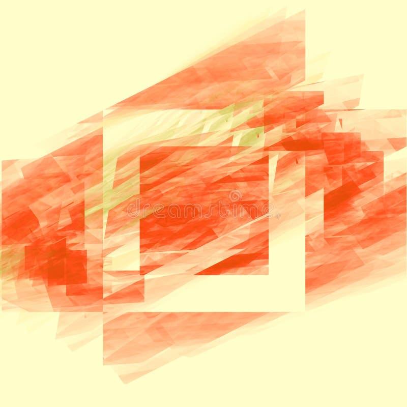Modello con il quadrato strutturato rosso royalty illustrazione gratis