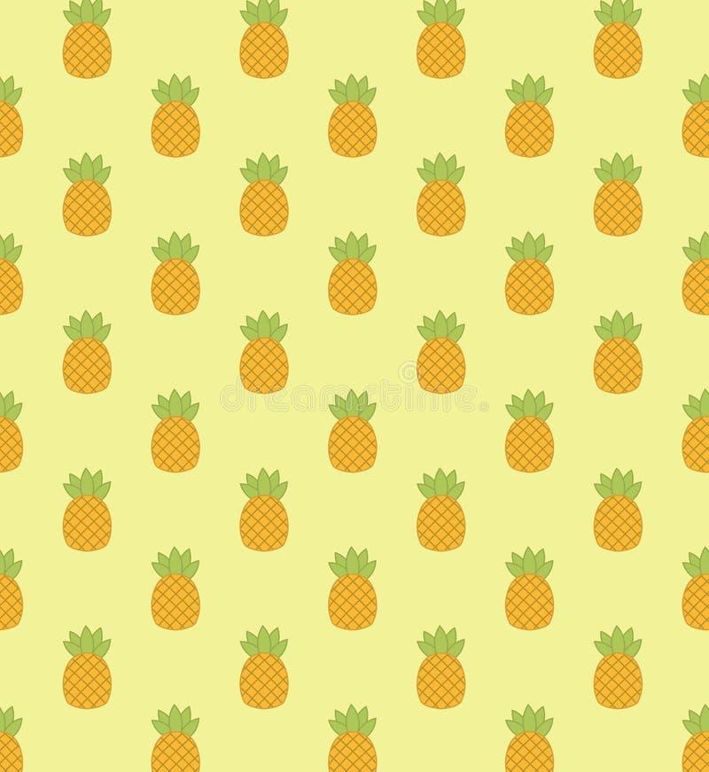 Modello con l'ananas immagini stock libere da diritti