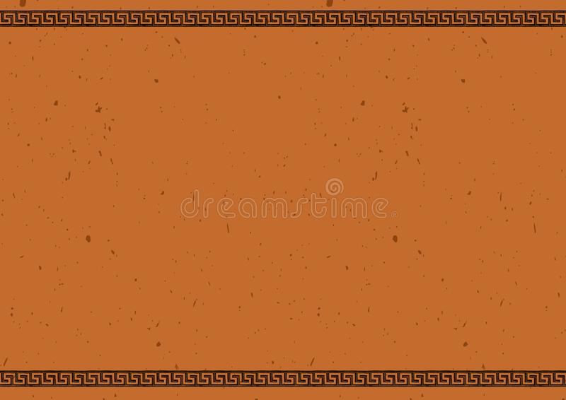 Modello con l'ornamento grecian antico illustrazione vettoriale