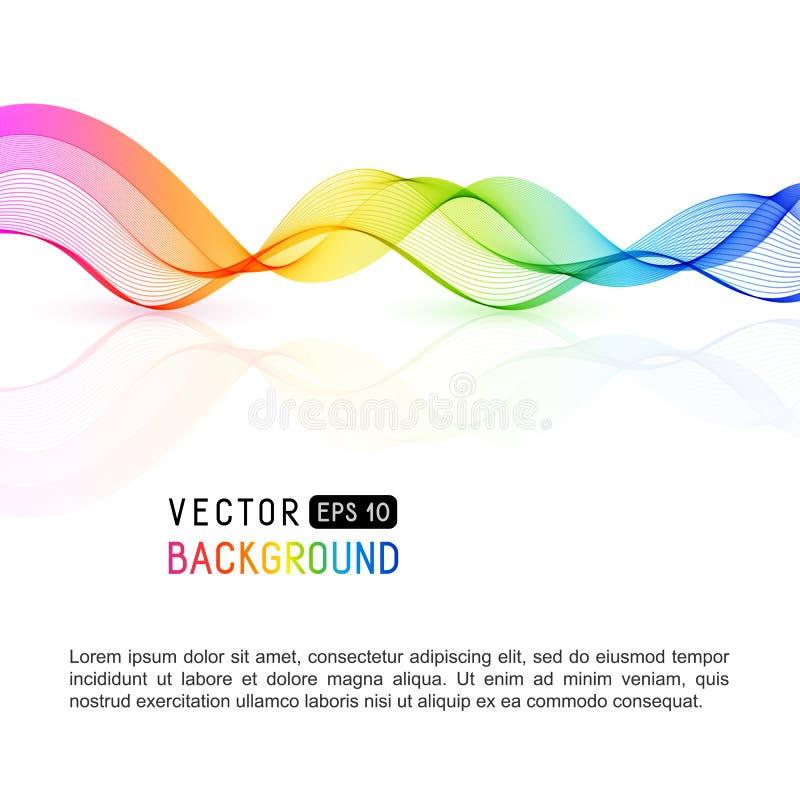Modello con la linea per il vostro testo, Informat di Wave dell'arcobaleno di pendenza illustrazione vettoriale
