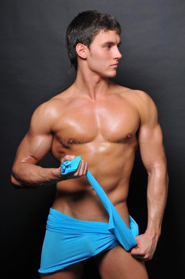 Modello con la tessile blu immagine stock libera da diritti