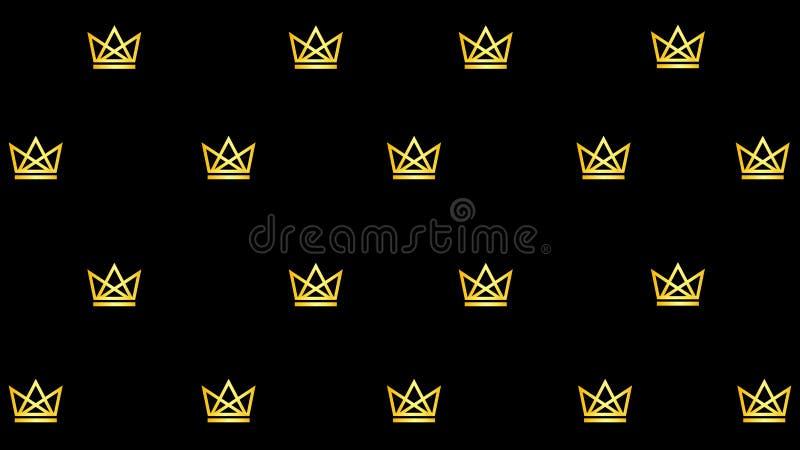 Modello con le corone dorate royalty illustrazione gratis