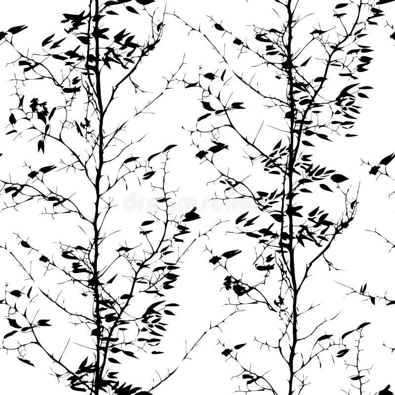 Modello con le siluette degli alberi royalty illustrazione gratis