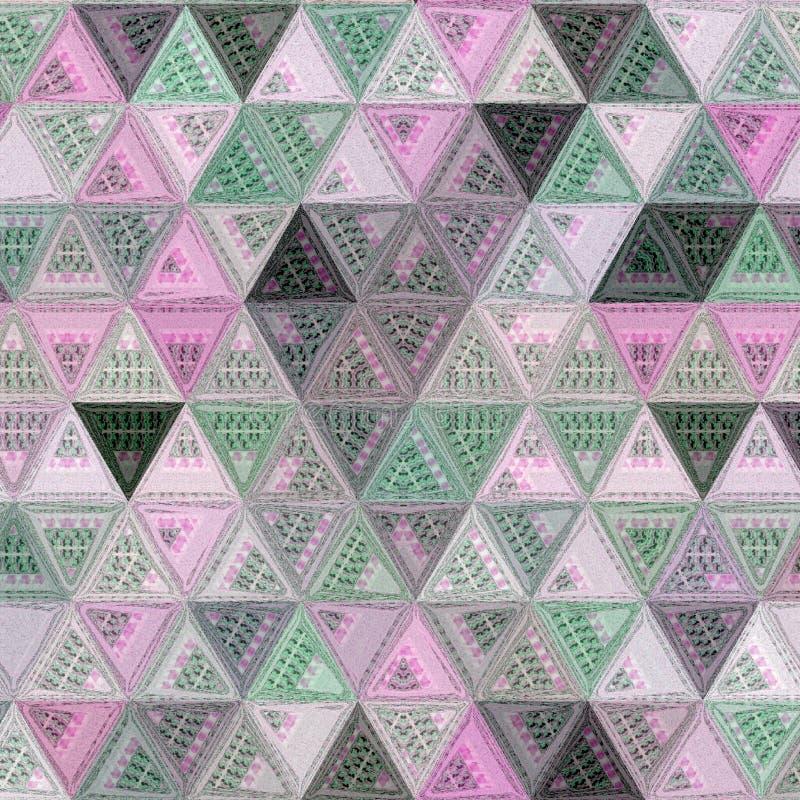 Modello continuo dei triangoli per la carta o carta da parati con effetto del ricamo fotografia stock