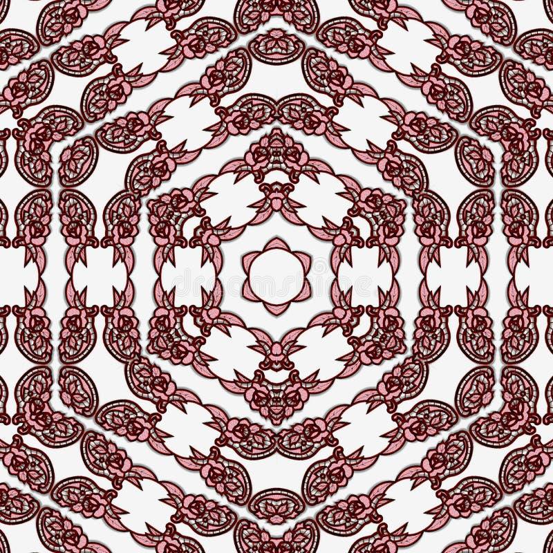 Modello continuo del pizzo del fiocco di neve esagonale per la carta illustrazione vettoriale