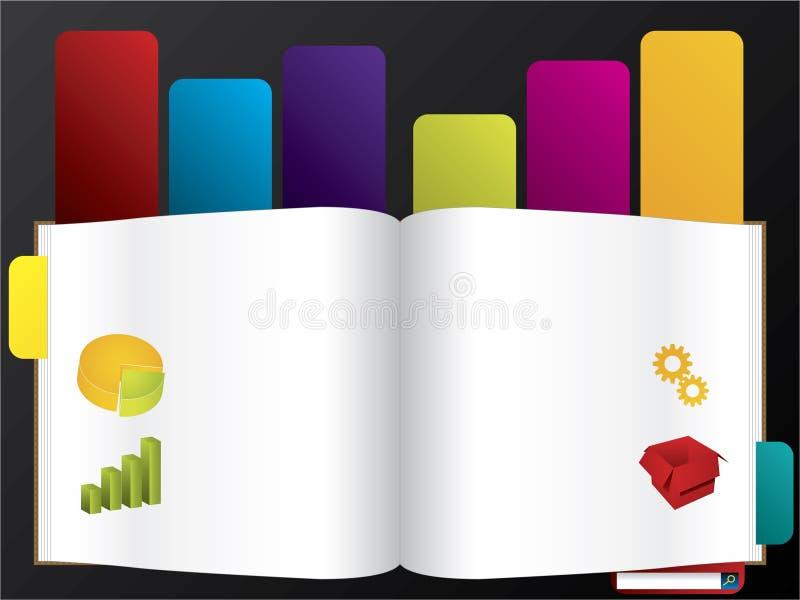 Modello contrassegnato di Web del libro illustrazione di stock