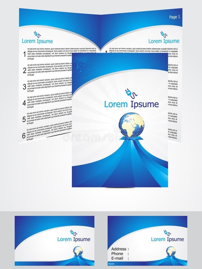 Modello corporativo blu astratto di identificazione illustrazione di stock