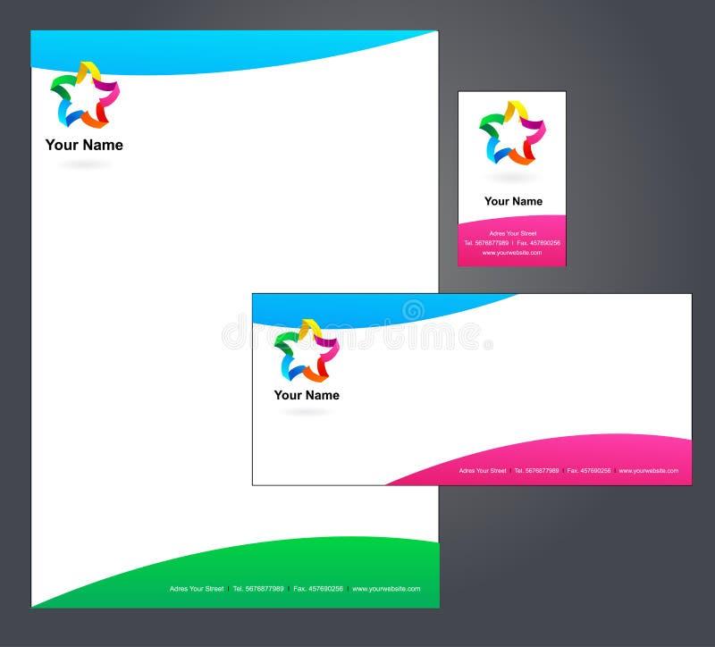 Modello corporativo della carta intestata -    illustrazione vettoriale