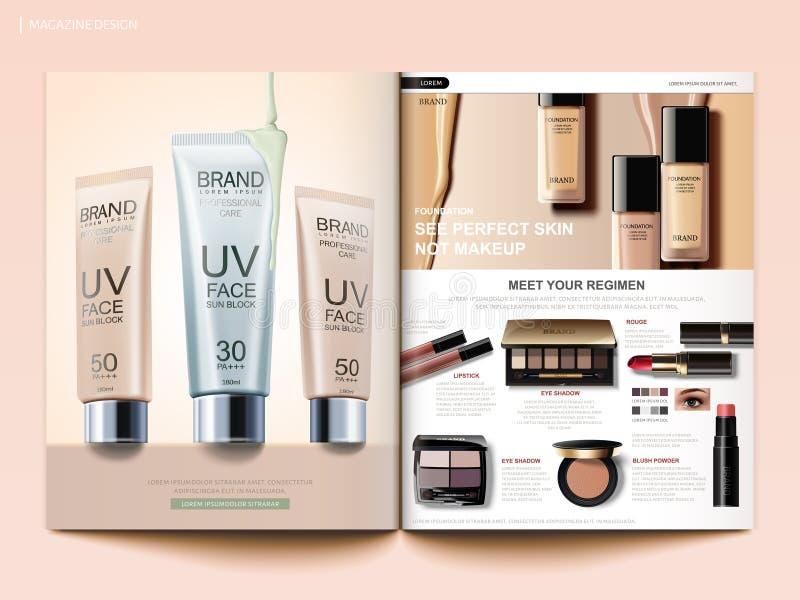 Modello cosmetico della rivista illustrazione vettoriale
