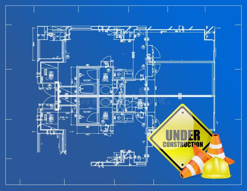 Modello in costruzione illustrazione vettoriale