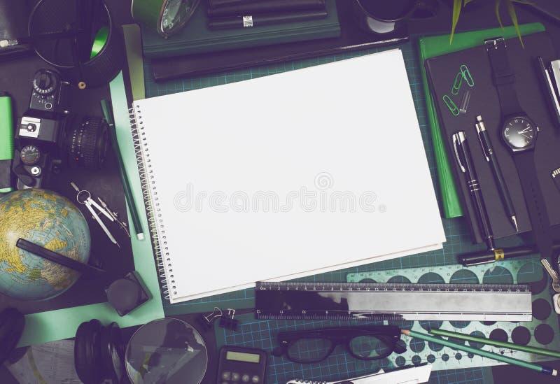 Modello creativo dello sketchbook fotografie stock